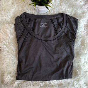 Exertek M Black and Grey workout top